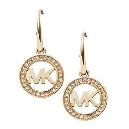 Wholesale MK Michael Kores style Tone Earrings fashion letters drop hoop earings brand Jewelry wedding jewellery for women Silver Gold Rose gold