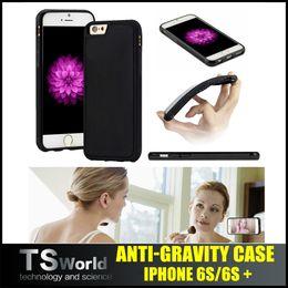 Wholesale iphone plus s plus samsung s7 edge s6 edge plus Anti gravity case Nano Suction cover Magic adsorption soft case shockproof case silicon