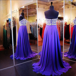 Luxury Prom Dresses Long Formal Evening Party Wear A Line Exquisite Beaded Top Chiffon Skirt Purple Formal Gowns Custom Made