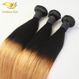 Ombre Hair Extensions Two Tone Hair Straight Virgin Remy Hair Weaving Two Tone 1B 27Ombre Hair Bundles