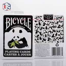 Wholesale Bicycle Panda Deck Playing Cards Black and White Poker New Pandamonium Magic Props Magic Tricks Toys