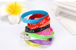 Fashion Luminous Silicone Bracelet Sports Bracelet English Letters Wristband Bracelet Mixed Style Hand Rings Wholesale Random Delivery