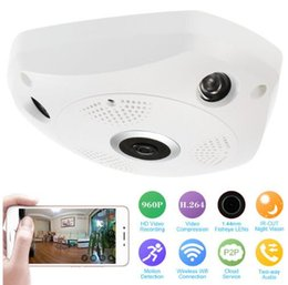 Wireless CCTV 360 Degree Panoramic Camera Fisheye HD 960P 1.3MP WIFI IP Home Security Surveillance Camera System