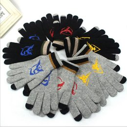 Wholesale Poke Gloves Cartoon Mittens Knitted Gloves Warm Gloves for adult and big kids Five Fingers Gloves