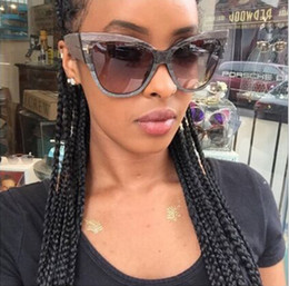 Wholesale Hot sale personality cat s eye sunglasses The big box street snap tide sunglasses new summer style