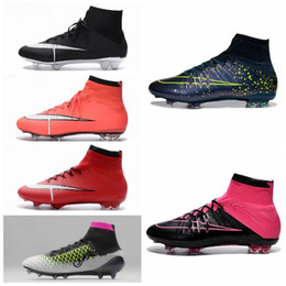 2016 Cheap New Mens Football Boots Magista Mercurial Superfly FG High Top Soccer Cleats CR7 Superfly Sports Soccer Shoes Laser 100% original