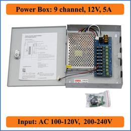 9CH Port DC12V 5A CCTV Camera Power Box Adapter Switching Power supply Box Distribution 9 channels Input AC 100-240V to DC 12V