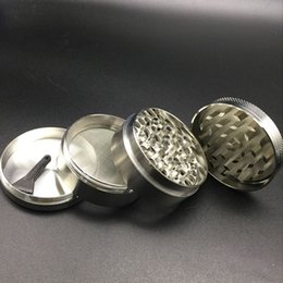 Grinders 55mm 4 layers grinders herb metal Zicn alloy for cnc teeth filter net dry herb vaporizer pen vaporizer vapor glass smoking pipes