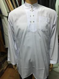 Wholesale Clothing for Men Muslim Work Wear Long Shirt Dress Thobe Malaysia Tunics Men Islamic Clothing
