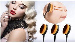 Wholesale Newest Makeup Brushes Oval Brush Toothbrush shaped Foundation cleaner benefit cosmetics Cream Puff Powder Face Beauty T250 Tools Accessories