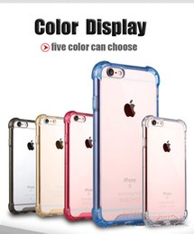 Wholesale For apple iphone S S Plus Armor Transparent TPU silicon case in TPU airbag seismic cover for iphone Protector case colorfully