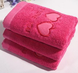 Wholesale Hand Towel For Face Hair Home Bathroom Wedding Gifts From China Red East Blessings Cotton Bride Groom Marry