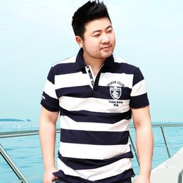 Wholesale Fat Brother Big Fat cotton loose add fertilizer increased male Paul short sleeve shirt collar size M