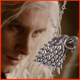 Wholesale Europe Game of Thrones Winterfell Stark Wolf Necklace Antique Silver A Song of Ice and Fire necklace pendants movie jewelry