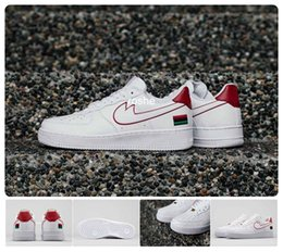 Wholesale New Low BHM White University Red Women Men Band Skateboard Shoes Ones Eur Size