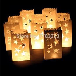 Promotion sacs ignifuges Fireproof Sacs de bougie de papier pour le mariage / anniversaire / fête / Noël / Saint-Valentin, sacs à bougies Luminary 160318 #