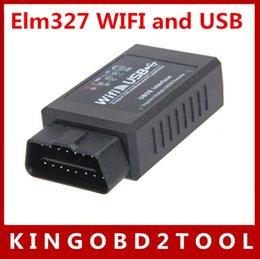 Wholesale Best Selling high quality elm327 wifi usb code scanner Factory price elm wifi usb for iPhone iPad PC free dhl