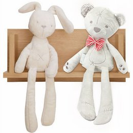 Wholesale Baby Care Lovely Pacify Rabbit Children Pacify Sleep Toy Funny Rabit With Short and Long Ear Bear Kids Accompany Toy