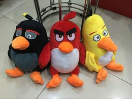 Wholesale EMS cm angry bird Plush Toys inch Love angry bird Stuffed Animals Baby Dolls Pillow Toys E858