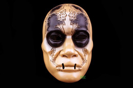 New Magic Movie Harry Potter Theme Skull Mask Death Eater Lucius Malfoy Full Face Resin Masks For Halloween House Party Hot Selling