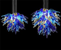 LR1077-Hot Sale Pretty Colored Murano Glass Chandelier European Style Chandelier Light Party Decoration Transparent Glass LED Chandelier