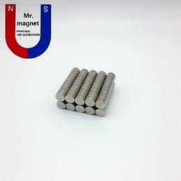 Acheter en ligne Aimant néodyme forte-100pcs D10x4mm aimant néo néodyme dur superbe D10x4 aimant de 10 * 4mm N35, aimant permanent de D10 * 4 aimant permanent aimant de terre rare 10x4mm, 10x4mm