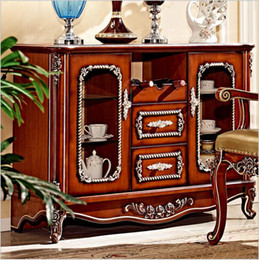 Wholesale hot selling antique style wooden European Living Room Locker Cabinet for Sale pfy4003