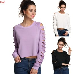 Hot Plus Size T-Shirt Women Tops Tees Spring Hollow Long Sleeve T-Shirt New Short Style Cotton Tshirt Fashion Women Clothes Colors YC000723