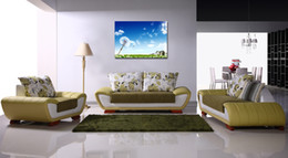 Free shipping 1 Piece unframed Home decoration picture Canvas Prints Dandelion flower tulips Eiffel Tower tree house chair Lady grassland
