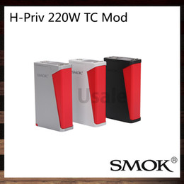 Wholesale SMOK H Priv W TC Box Mod Outstanding Performance Colorful Finish Option New Battery Cover Design Original VS Sigelei