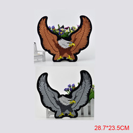 Free Shipping fashion eagle LOGO Iron On Embroidered Patch Appliques Badges DIY bag Jerseys clothing patches