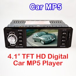 Wholesale 4016C Inch one din TFT HD Digital Car MP5 Player High Definition video playing FM Radio with USB SD AUX Interfaces