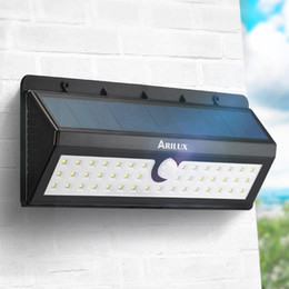 Wholesale ARILUX Solar Power LED PIR Motion Sensor Light Waterproof Outdoor Garden Pathway Fence Energy Saving Sense Wall Decor Lamp