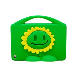 Wholesale Kids Safe Silicon Case For iPad Mini Shockproof Solid Stand Cover with Cute Plant Design pc Five Colors