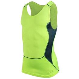 Capas base en venta-Al por mayor-Men Deportes debajo de la camisa de la piel del cuerpo de la armadura de compresión de desgaste Capa base del chaleco sin mangas