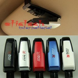 Wholesale by dhl or ems New Car Vehicle Sun Visor Glasses Holder Card Ticket Pen Clip Automotive Accessories
