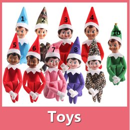 Wholesale 2016 New Style Christmas Elf Toys On The Shelf Elves Xmas Dolls For Kids Holiday And Christmas Gift DHL Free