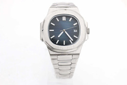 Wholesale Hot Sell Luxury brand high quality automatic Mechanical men watch blue dial Sapphire stainless steel Transparent glass back