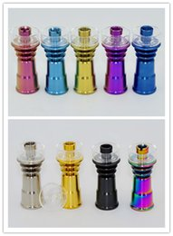 Wholesale 2016 latest popular mm mm domeless titanium nail with mm quartz dish hybrid nails color add per piece