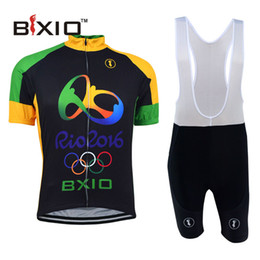 Wholesale 2016 BXIO Brand New Arrivals The Olympic Style Cycling Jerseys Sets Short Sleeved Suit Can Be Called Bikes Cothes Uniforme Ciclismo BX