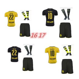 Wholesale Dortmund home and away jerseys adult Coat pants socks REUS GUNDOGAN PULISC Borussia Dortmund jersey