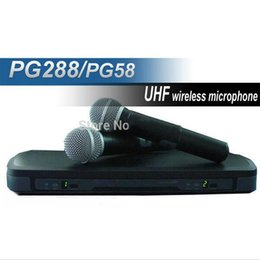 Microfono Free shipping Dual Channel PG288 Wireless Microphone System Directional Microphone Professional Shotgun Microphone for Meeting
