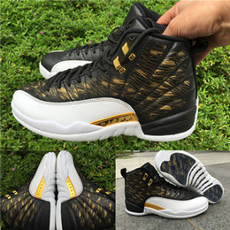 Wholesale With shoes Box New Retro XII Wings Black White Golden Hot Sale Men Boots Shoes