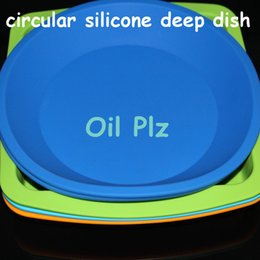 Wholesale hot DHL best quality round Nonstick durable temperature resist tray dish fruit cake tray food grade round silicone tray