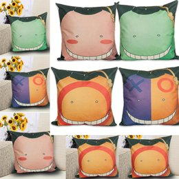 XO Face Pattern Pillow cubre Cojines de almohada de dibujos animados lindo Smile Face Funda de almohada Home Decor Smile Face Fundas de cojín