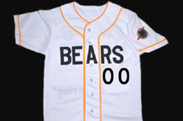 Wholesale Custom Any Number Bad news BEARS Movie Jersey Button Down Men s Stitched Embroidery Logos Bad news BEARS Movie Baseball Jerseys S XL