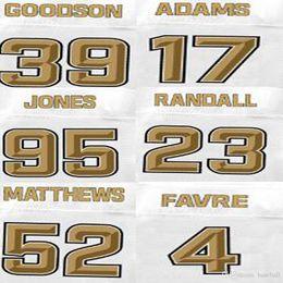 Wholesale Men s Brett Faver Jersey Clay Matthews Damarious Randall Datone Jones Davante Adams Demetri Goodson Drivers Jerseys Pro Line White
