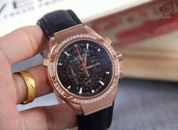 Wholesale AA A top LTIPLANO style watch men s Rose Gold Case Diamond Multi function timing clock PI1103001