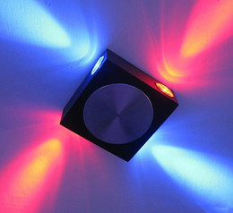 Factory Wholesale AC85~265V 4W Black Silver Aluminum LED Wall Lights Square Disco pattern modern background wall lamps for reading - modern