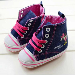 Baby first walkers shoes baby sport shoes cotton shoes cartoon minnie shoes color navy blue size 11-13cm 2016 kids shoes children shoes.1358